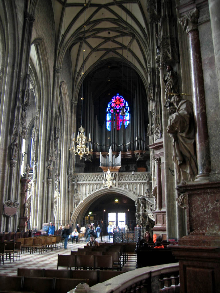 Stephansdom - View towards Giant Door