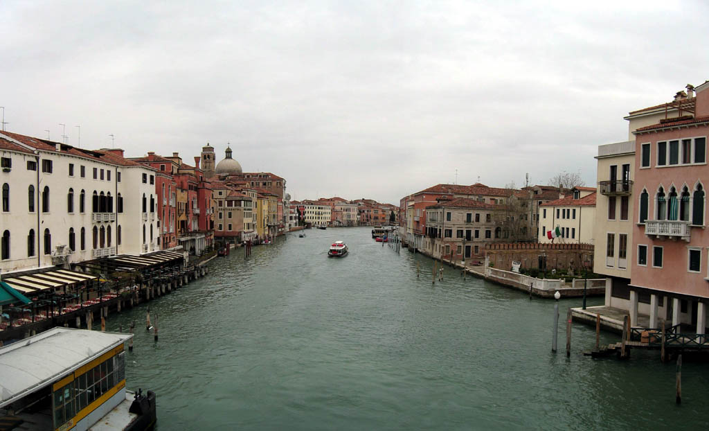 Canal Grande, panorama looking East from Ponte Degli Scalzi