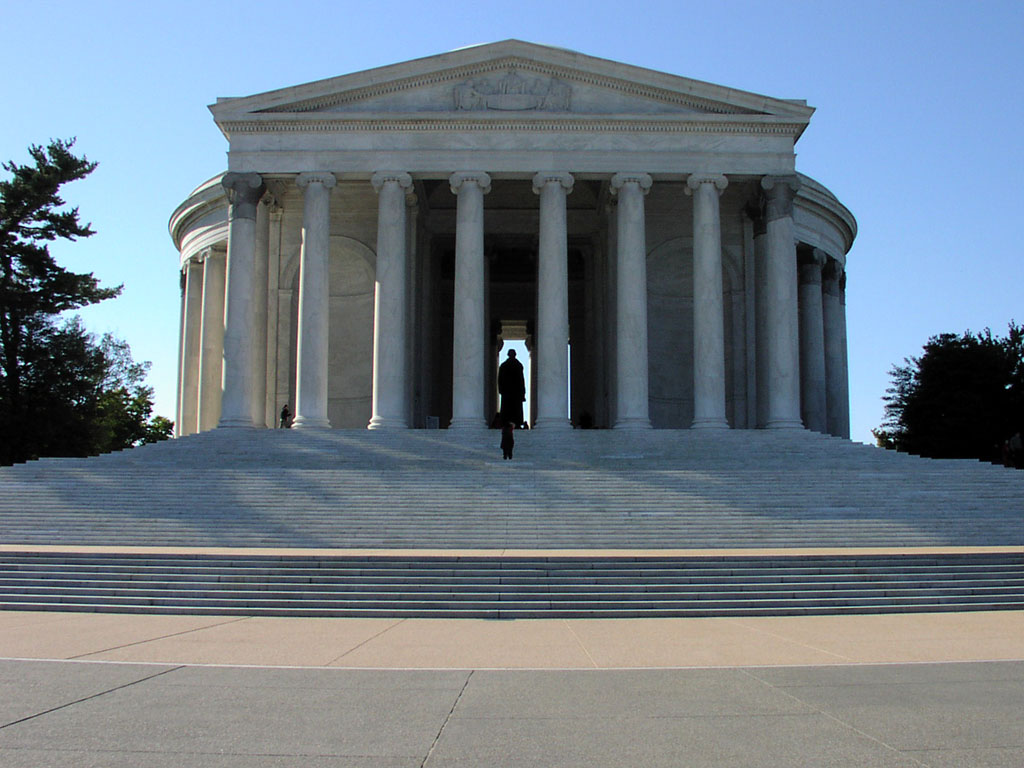 Thomas Jefferson Memorial, view from Tidal Basin steps